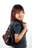 Donna con il sacchetto Immagine Stock
