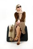 Donna con il sacchetto enorme Immagine Stock Libera da Diritti