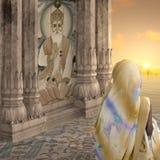 Donna con il saree giallo Immagine Stock