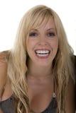 Donna con il sorriso. Fotografia Stock Libera da Diritti
