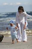 Donna con il suo bambino Fotografia Stock
