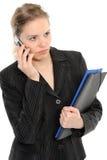 Donna con il telefono Fotografie Stock