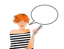 Donna con il telefono Royalty Illustrazione gratis