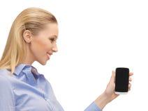 Donna con il telefono cellulare Immagini Stock