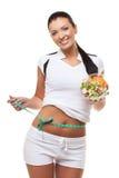 Donna con insalata fotografia stock libera da diritti