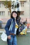 donna con l'acquisto Fotografia Stock