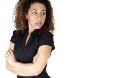 Donna con l'atteggiamento con lo spazio della copia Fotografie Stock Libere da Diritti