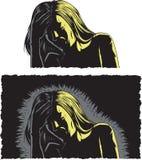 Donna con l'emicrania illustrazione vettoriale