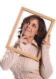 Donna con l'idea Fotografia Stock