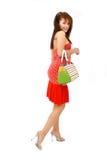 Donna con la borsa fotografia stock