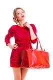 Donna con la borsa Immagine Stock Libera da Diritti