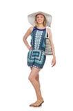 Donna con la borsa Fotografie Stock Libere da Diritti