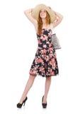 Donna con la borsa di modo Fotografie Stock Libere da Diritti