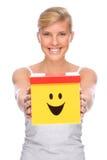 Donna con la casella immagini stock libere da diritti