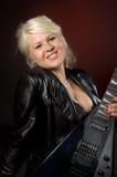 Donna con la chitarra Immagini Stock Libere da Diritti