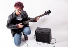 donna con la chitarra Fotografia Stock