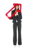 Donna con la freccia rossa immagine stock libera da diritti