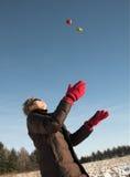 Donna con la frutta Fotografie Stock