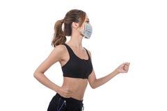 Donna con la maschera fotografie stock libere da diritti