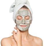 Donna con la maschera di protezione Immagini Stock Libere da Diritti