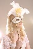 Donna con la mascherina fotografia stock libera da diritti