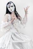 Donna con la mascherina veneziana Immagini Stock Libere da Diritti