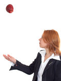 Donna con la mela Immagini Stock Libere da Diritti