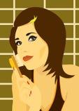 Donna con la spazzola Fotografie Stock Libere da Diritti
