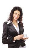 Donna con la tazza di caffè Immagine Stock Libera da Diritti