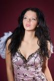 Donna con le ali angeliche Fotografie Stock