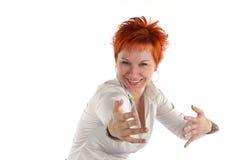 Donna con le braccia outstretched Immagine Stock Libera da Diritti