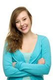 Donna con le braccia piegate Fotografie Stock