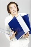 Donna con le cartelle Immagini Stock