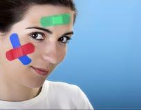 Donna con le fasciature fotografia stock