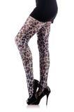 Donna con le gambe lunghe Fotografia Stock