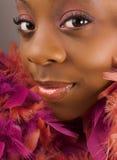 Donna con le piume Immagini Stock Libere da Diritti