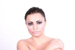 Donna con le spalle aperte fotografia stock libera da diritti