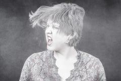 Donna con polvere Fotografia Stock