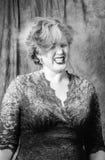 Donna con polvere Fotografie Stock Libere da Diritti