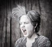 Donna con polvere Fotografie Stock