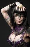 Donna con stile creativo di carnevale Fotografie Stock