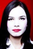 Donna con trucco del geisha fotografia stock libera da diritti