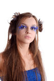 Donna con trucco di modo Fotografia Stock