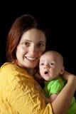 Donna con un bambino da 1 mese Fotografia Stock Libera da Diritti