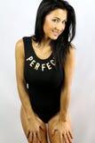 Donna con un corpo atletico Immagini Stock Libere da Diritti