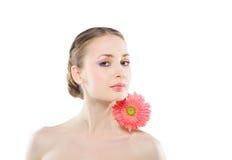 Donna con un fiore dentellare. Immagine Stock Libera da Diritti