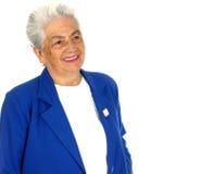 Donna con un grande sorriso Fotografia Stock Libera da Diritti