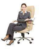 Donna con un taccuino Fotografia Stock Libera da Diritti