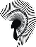 Donna con un taglio di capelli moderno Illustrazione Vettoriale