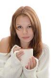 Donna con una tazza. Fotografia Stock Libera da Diritti